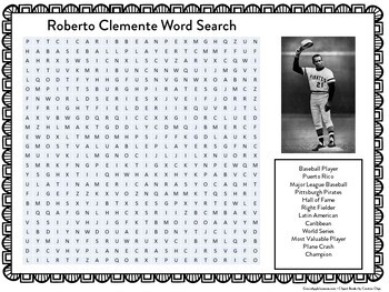 ROBERTO CLEMENTE ACTIVITY ( WORD SEARCH)