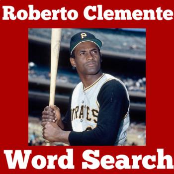 Roberto Clemente Worksheet | Roberto Clemente Word Search