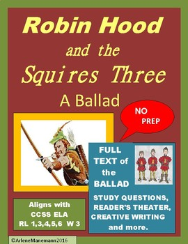 ROBIN HOOD and the SQUIRES THREE, Study Unit & Readers Theater with Full Text