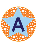 ROBOT - CIRCLE Bulletin Board Letters / orange