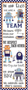 ROBOT - Classroom Decor: X-LARGE BANNER, In Our Class