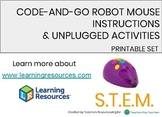 ROBOT MOUSE INSTRUCTIONS SET AND UNPLUGGED GAMES AND ACTIVITIES