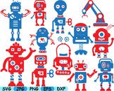 ROBOT Science math Clip Art School super hero retro toy ro