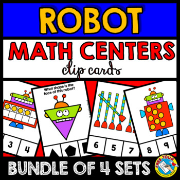 ROBOT THEME MATH CENTERS BUNDLE (COUNTING AND CARDINALITY KINDERGARTEN)