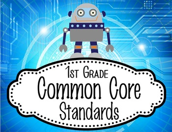 "ROBOTS - 1st Grade Common Core Standards ""I CAN"" format / posters"