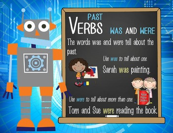 ROBOTS - 1st grade GRAMMAR posters / Scott Foresman Reading