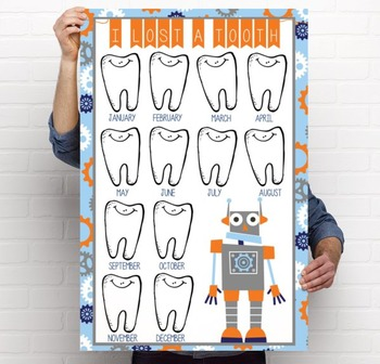 ROBOTS - Classroom Decor: I lost a TOOTH - size 24 x 36