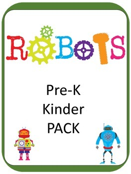 ROBOTS PreK and Kinder Pack 200+ PAGES and GAMES