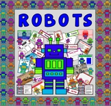 ROBOTS TEACHING RESOURCES - ROLE PLAY DISPLAY KS 1-2 EARLY YEARS TOYS MACHINES