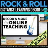 ROCK AND ROLL THEME Decor - 2 EDITABLE Clutter-Free Classroom Decor BUNDLE