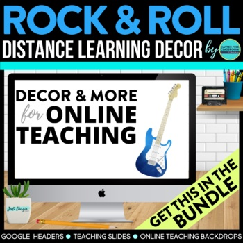 ROCK AND ROLL THEME Decor - 2 EDITABLE Clutter-Free Classr