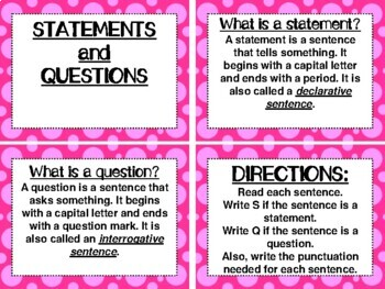 ROCK ON! Grammar Game Series: Statements and Questions