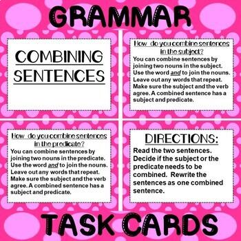 ROCK ON! Grammar Game Series: Combining Sentences