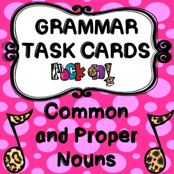 ROCK ON! Grammar Game Series: Common and Proper Nouns