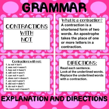 ROCK ON! Grammar Game Series: Contractions with Not