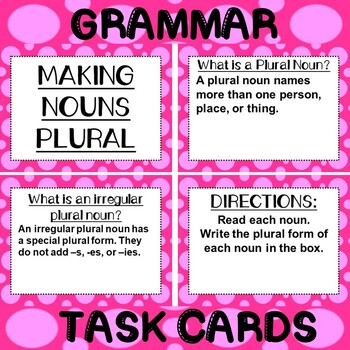 ROCK ON! Grammar Game Series: Irregular Plural Nouns