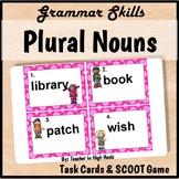 Plural Nouns Grammar Task Cards/SCOOT game