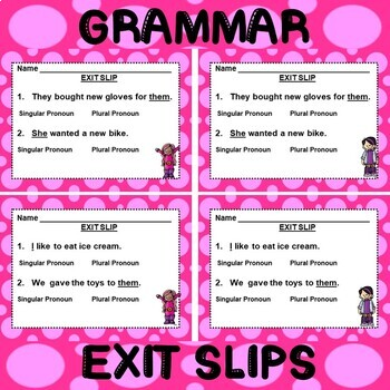 ROCK ON! Grammar Game Series: Singular and Plural Pronouns