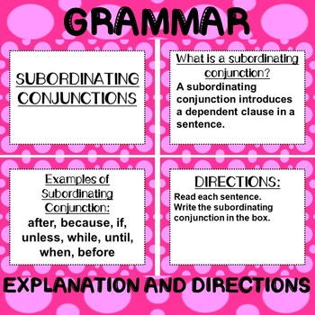 ROCK ON! Grammar Game Series: Subordinating Conjunctions