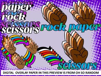 ROCK, PAPER, SCISSORS GAME CHARACTER CARTOON & GAME CLIP ART -102 IMAGES