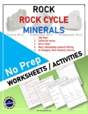 ROCK, ROCK CYCLE AND MINERALS_NO PREP: KWL Chart/Q-A/Research Writing & Activity
