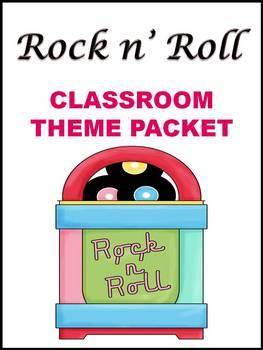 ROCK n' ROLL Classroom Theme - Back to School