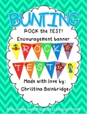 ROCK the TEST Encouragement Bunting Banner