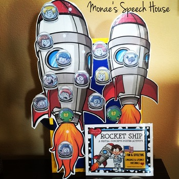 ROCKET SHIP POSTER SPEECH ACTIVITY
