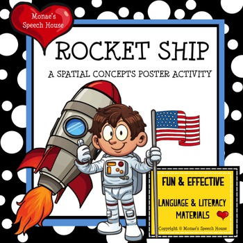 ROCKET SHIP POSTER SPEECH ACTIVITY