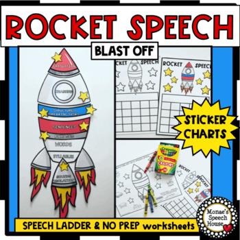 ROCKET SPEECH LADDER NO PREP WORKSHEETS STICKER CHARTS
