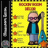 Rock and Roll Classroom Decor--Editable PDF Pack
