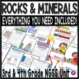 Minerals Rocks and Soil Unit | 3rd Grade Earth Science Activities