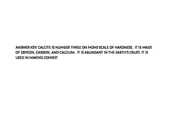 ROCKS & MINERALS CRYPTOGRAM #4: CALCITE