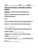 ROCKS & MINERALS HOMEWORK/RESEARCH PROJECT