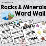 ROCKS & MINERALS WORD WALL - From the TC Collection