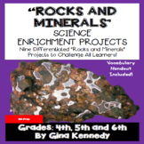 Rocks and Minerals Enrichment Projects, Vocabulary Handout