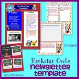 ROCKSTAR OWLS - Newsletter Template WORD