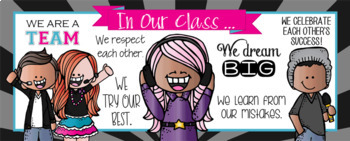 ROCKSTAR / music theme - Class Decor: LARGE BANNER, In Our Class - horizontal