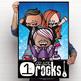 ROCKSTAR theme - Classroom Decor: 24 x 36 POSTER, 1st Grade ROCKS