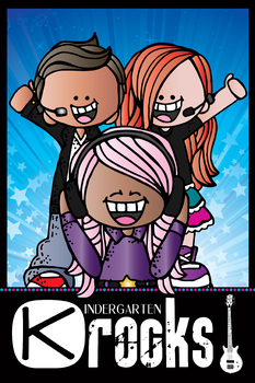 ROCKSTAR theme - Classroom Decor: 24 x 36 POSTER, Kindergarten ROCKS