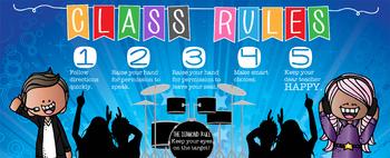 ROCKSTARS - Class Decor: LARGE BANNER, Class Rules, Whole Brain Teaching Rule