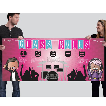 ROCKSTARS - Class Decor: LARGE BANNER, Class Rules, Whole Brain Teaching Rule
