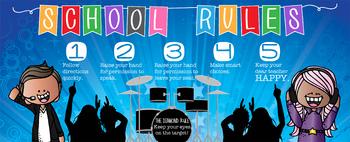 ROCKSTARS - Class Decor: LARGE BANNER, School Rules, Whole Brain Teaching Rule