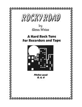 Recorder/iPad ROCKY ROAD (Hard Rock Accompaniment)