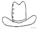 RODEO Acrostic Poem Hat and Planning Page