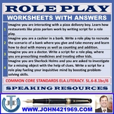 ROLE PLAY WORKSHEETS AND TASK CARDS