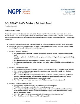 ROLEPLAY: Let's Make a Mutual Fund