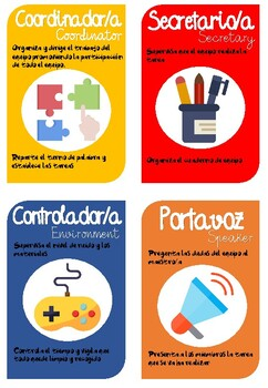 ROLES PARA APRENDIZAJE COOPERATIVO (COOPERATIVE LEARNING)