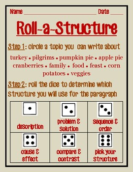 ROLL-A-STRUCTURE write your own! Thanksgiving edition