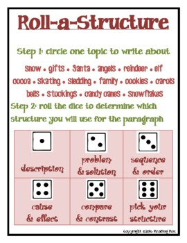 ROLL-A-STRUCTURE write your own! winter holiday edition